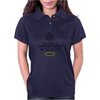 Too Stupid to Understand Science? Black Text Womens Polo