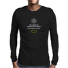 Too Stupid to Understand Science? White Text Mens Long Sleeve T-Shirt