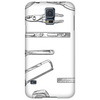Tools series 1, hand tools, hack saw, adjustable wrench, builders square, measuring tape, pliers Phone Case