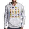Top emoji collection, including poop, crying with laughter & moon face Mens Hoodie