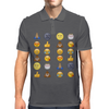 Top emoji collection, including poop, crying with laughter & moon face Mens Polo