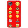 Top emoji collection, including poop, crying with laughter & moon face Phone Case