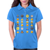 Top emoji collection, including poop, crying with laughter & moon face Womens Polo