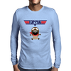 Top Pug T-shirt Mens Long Sleeve T-Shirt