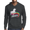 Totally Straight Funny Rainbow Unicorn Gay Pride Novelty Fashion Mens Hoodie