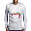 Totally Straight Funny Rainbow Unicorn Gay Pride Novelty Fashion Mens Long Sleeve T-Shirt