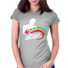 Totally Straight Funny Rainbow Unicorn Gay Pride Novelty Fashion Womens Fitted T-Shirt