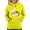Totally Straight Funny Rainbow Unicorn Gay Pride Novelty Fashion Womens Hoodie
