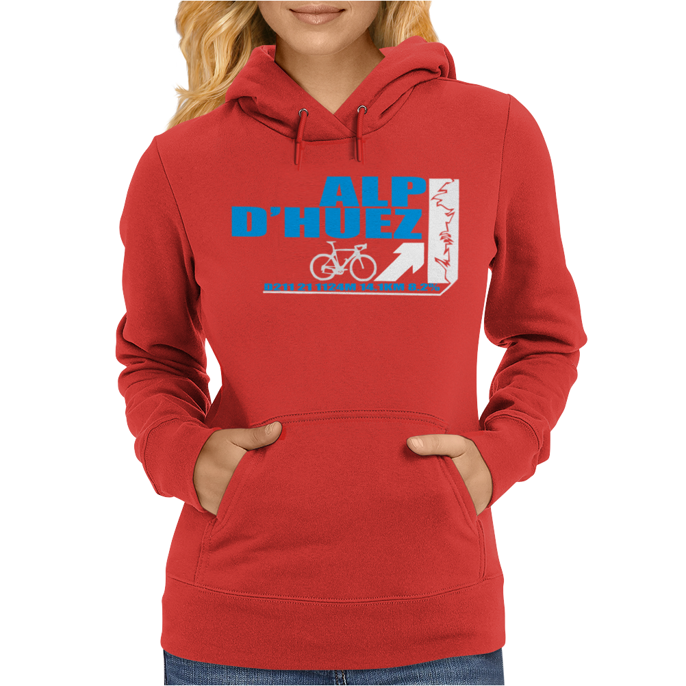 Tour De France Alp D'Huez Cycling Womens Hoodie