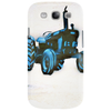tractor, blue.  by mudzco Phone Case