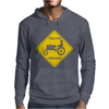 Tractor Crossing Farmer's Road Warning Sign Mens Hoodie