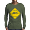 Tractor Crossing Farmer's Road Warning Sign Mens Long Sleeve T-Shirt