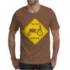Tractor Crossing Farmer's Road Warning Sign Mens T-Shirt