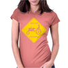 Tractor Crossing Farmer's Road Warning Sign Womens Fitted T-Shirt