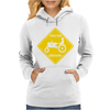 Tractor Crossing Farmer's Road Warning Sign Womens Hoodie