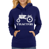 Tractor Driver for Farmer and Construction Worker Womens Hoodie