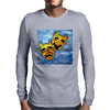 TRAGEDY AND COMEDY MASKS Mens Long Sleeve T-Shirt