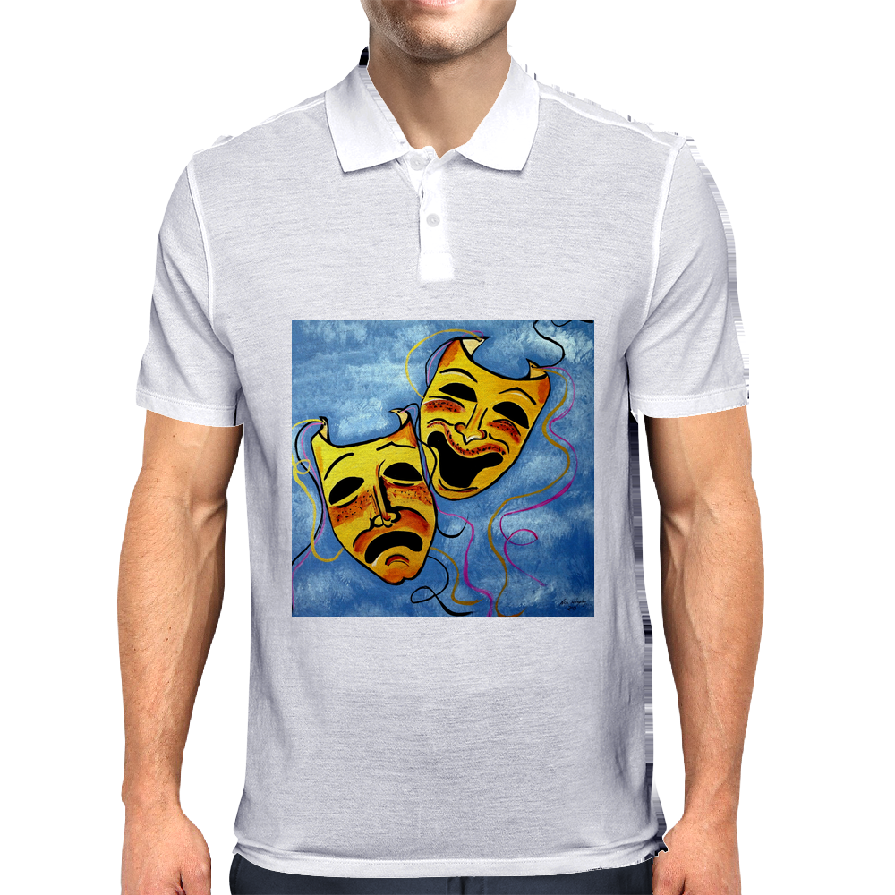 TRAGEDY AND COMEDY MASKS Mens Polo