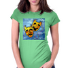 TRAGEDY AND COMEDY MASKS Womens Fitted T-Shirt
