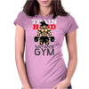 train hard Womens Fitted T-Shirt