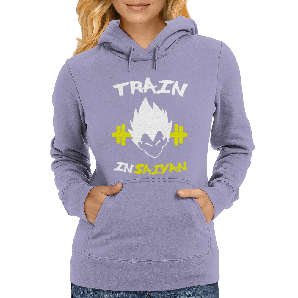 Train Insaiyan DBZ Super Saiyan Gym Exercise Womens Hoodie