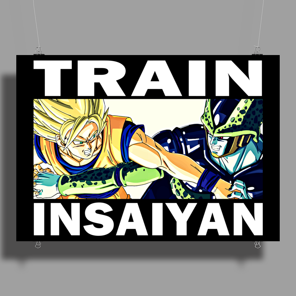 Train insaiyan - Son Goku vs Cell Poster Print (Landscape)