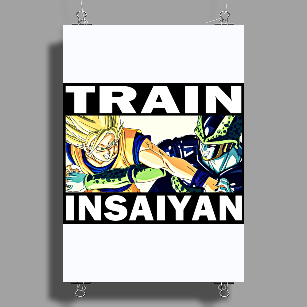 Train insaiyan - Son Goku vs Cell Poster Print (Portrait)