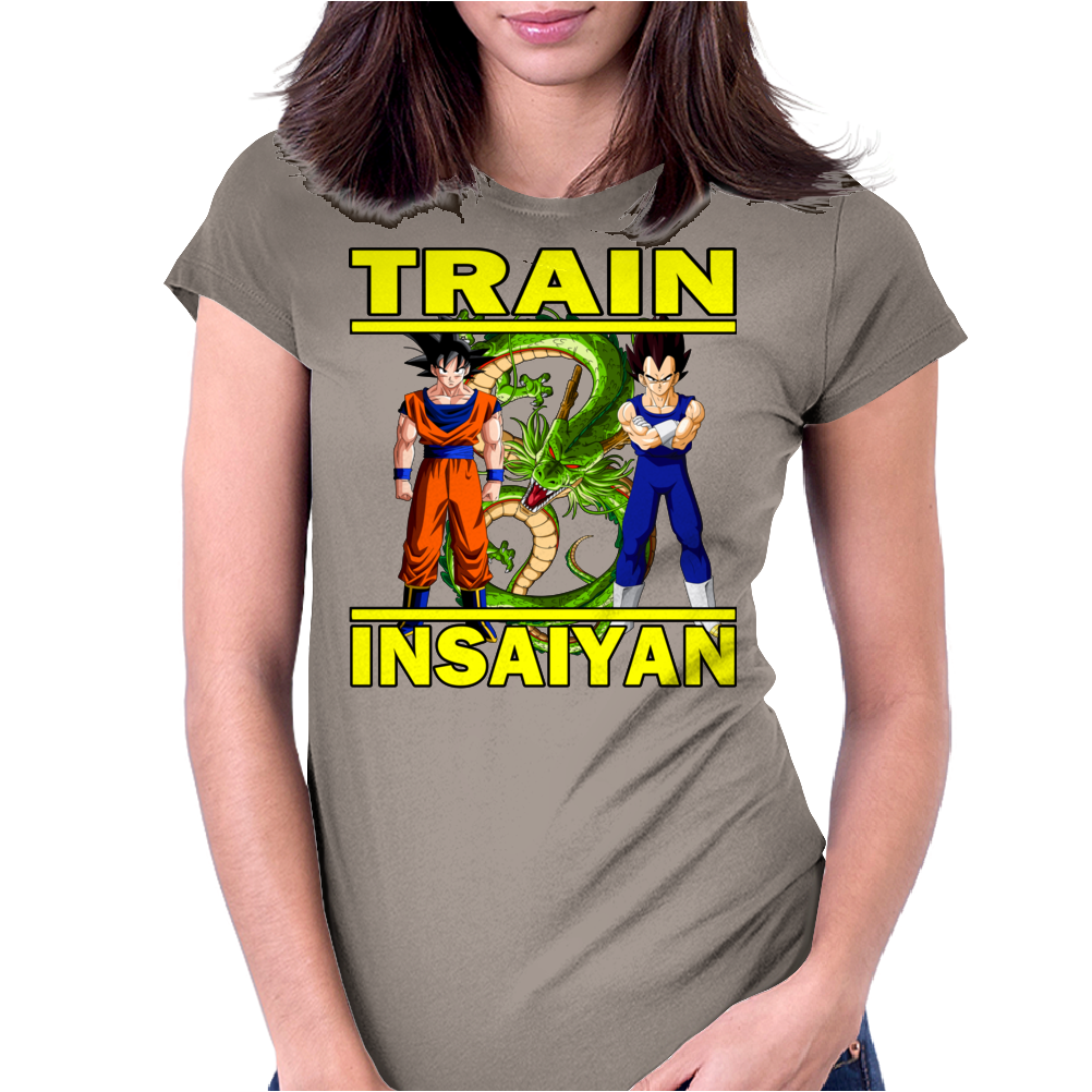 Train Insaiyan - Vegeta and Goku Womens Fitted T-Shirt
