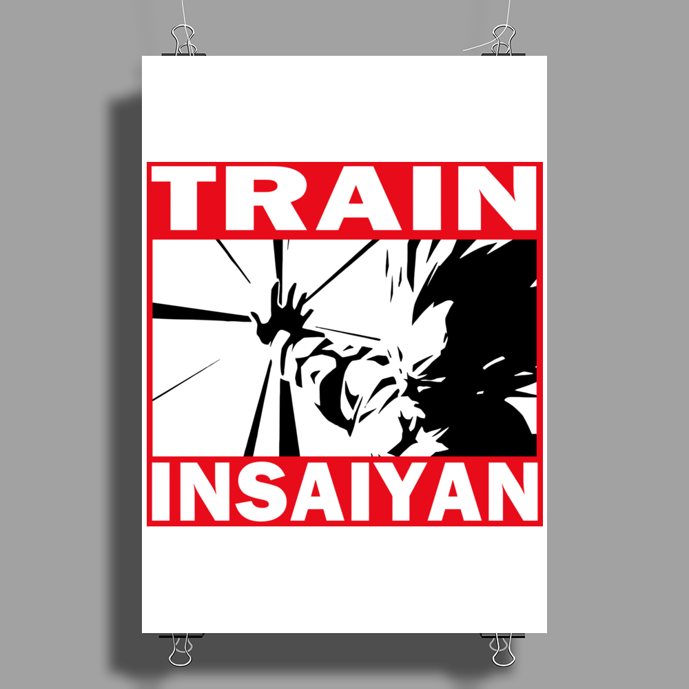 Train Insaiyan - Vegeta Poster Print (Portrait)
