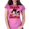 Train insaiyan - Vegeta vs Son Goku Womens Fitted T-Shirt