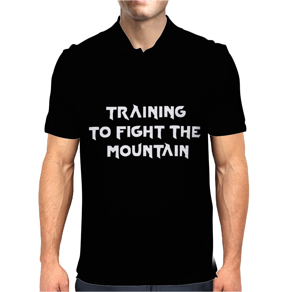 Training to fight the Mountain Mens Polo