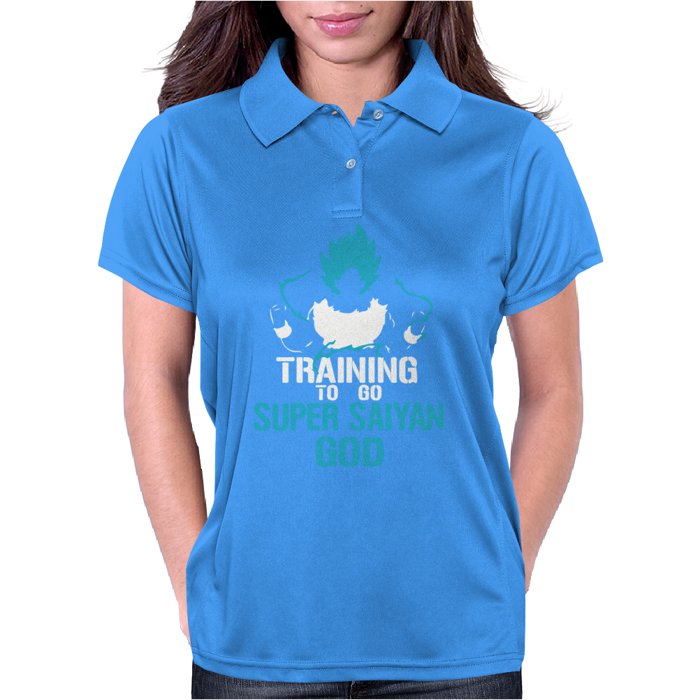 Training to go Super Saiyan GOD DBZ Dragon Ball Z Womens Polo