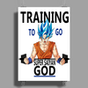 Training to go super saiyan god Poster Print (Portrait)