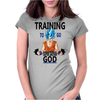 Training to go super saiyan god Womens Fitted T-Shirt