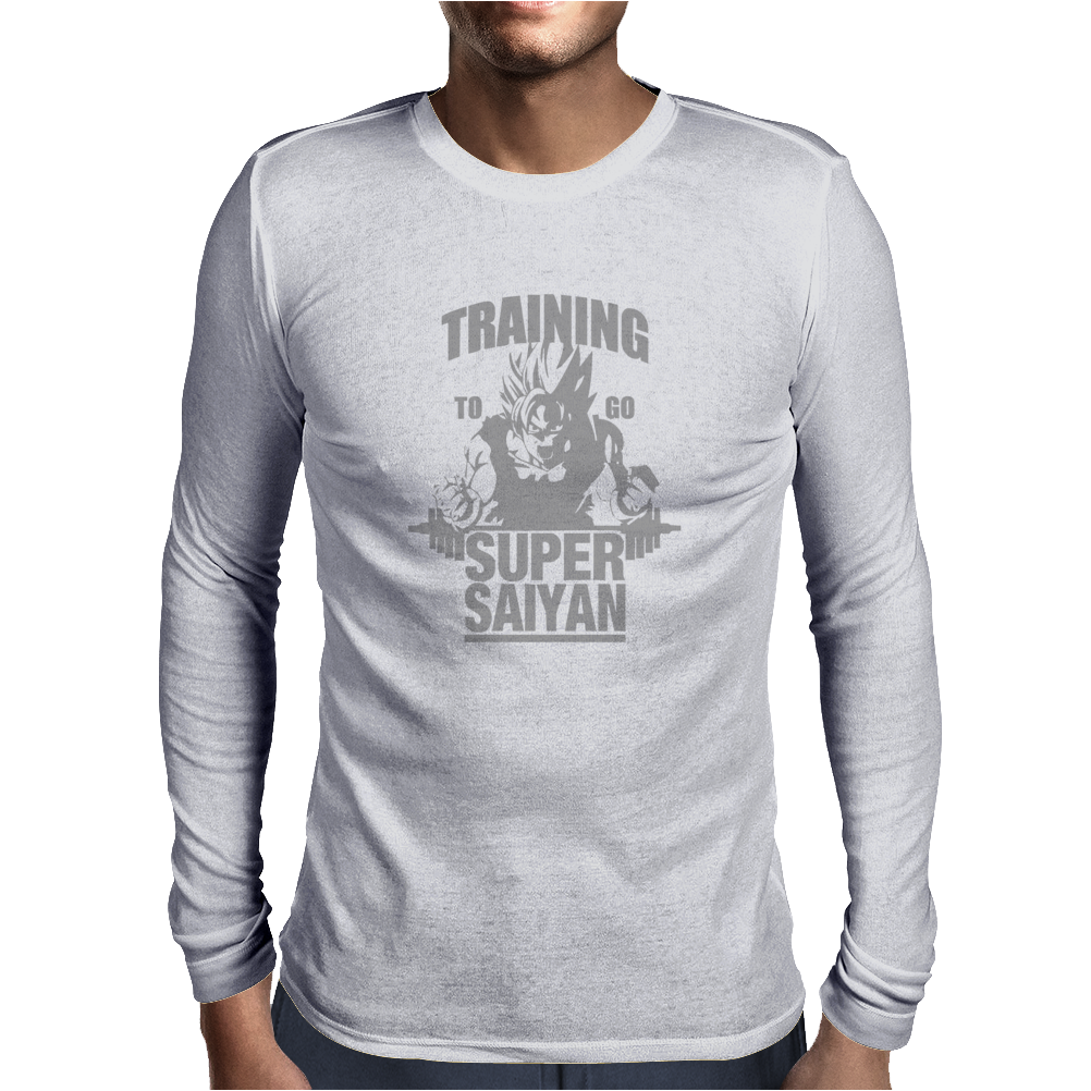 Training To Go Super Saiyan Mens Long Sleeve T-Shirt