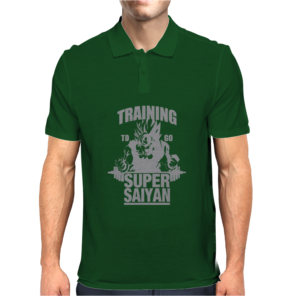 Training To Go Super Saiyan Mens Polo