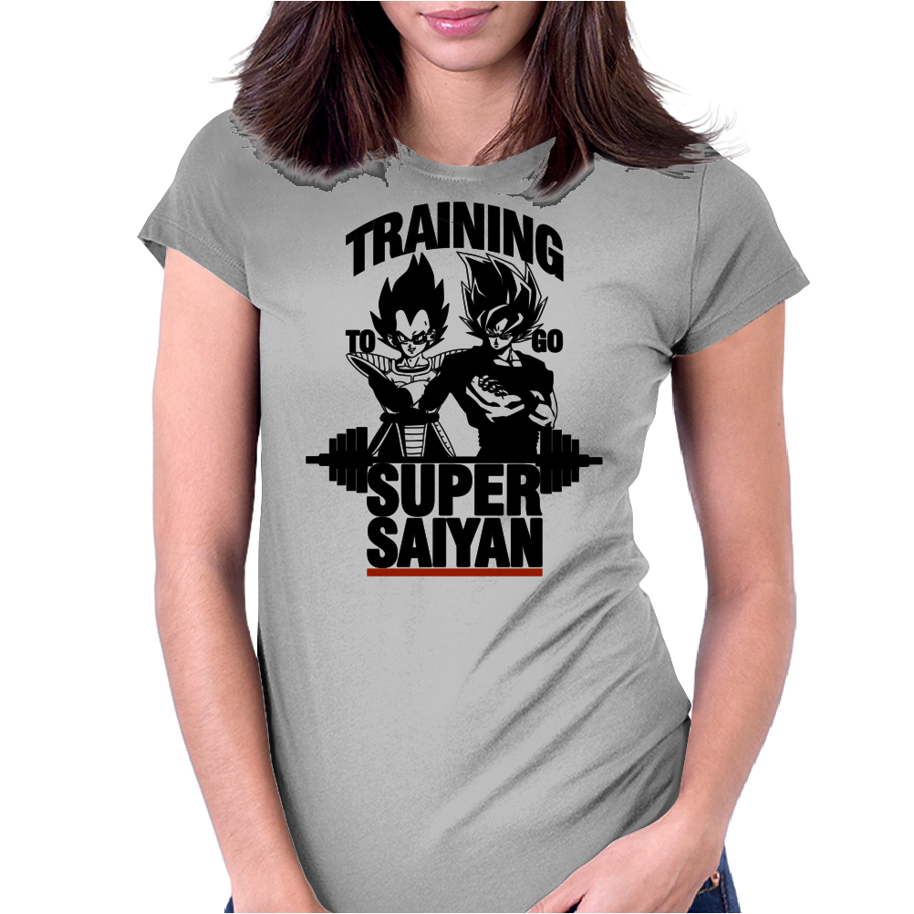Training to go super saiyan v2 Womens Fitted T-Shirt