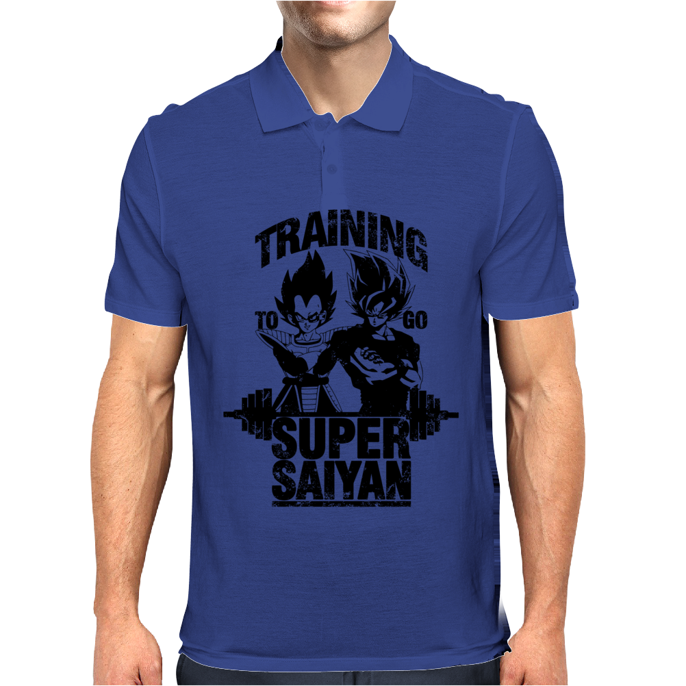 Training to go super saiyan v3 Mens Polo