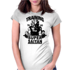 Training to go super saiyan (vintage) Womens Fitted T-Shirt