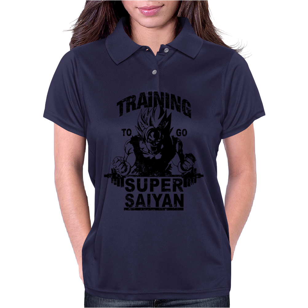 Training to go super saiyan (vintage) Womens Polo