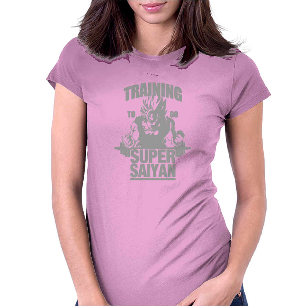 Training To Go Super Saiyan Womens Fitted T-Shirt
