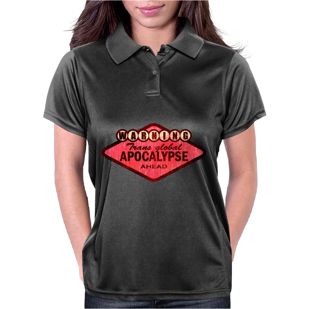 trans global apocalypse (red) Womens Polo