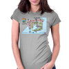 Transport of Kanto - Pokémon Underground Map Womens Fitted T-Shirt
