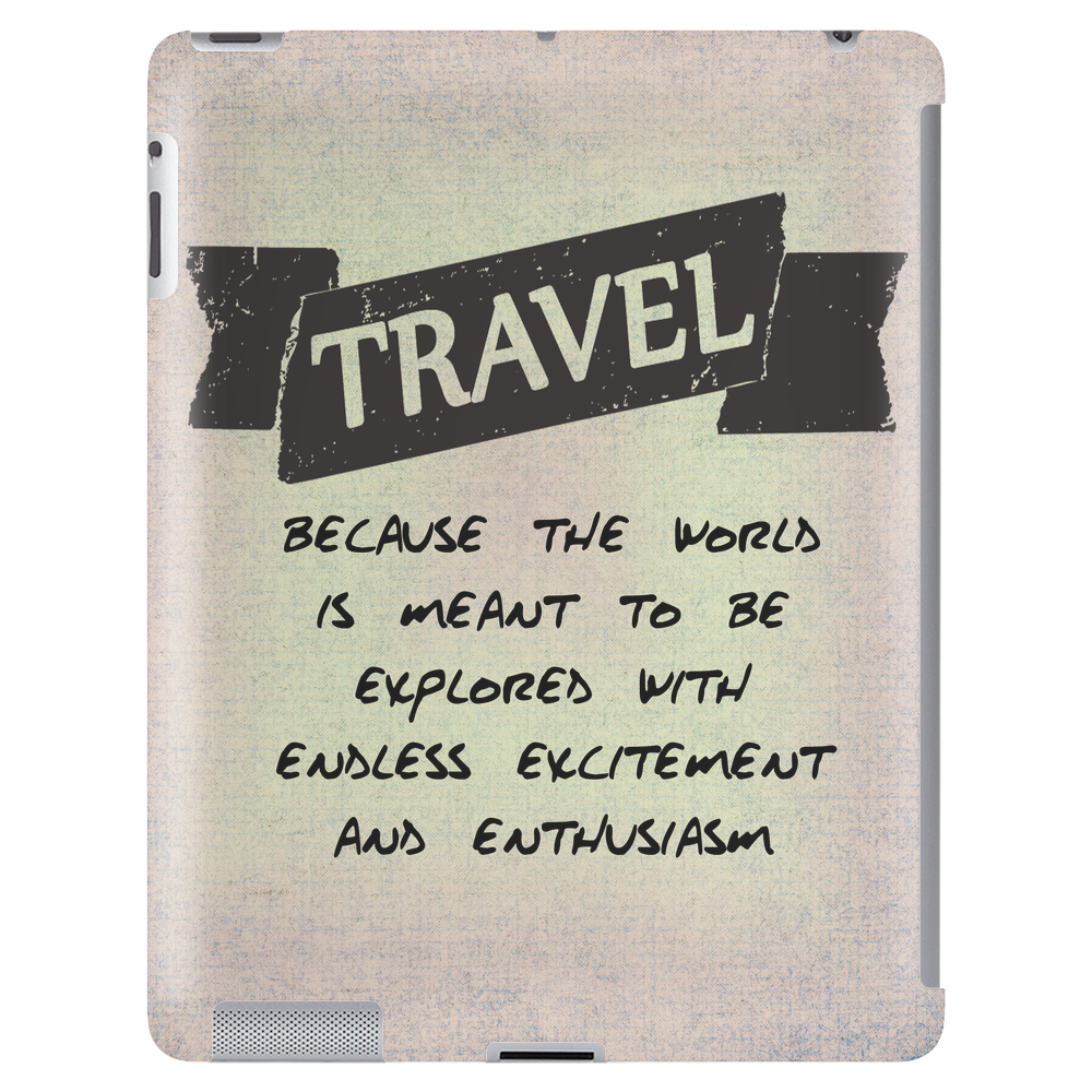 Travel Quote Tablet (vertical)