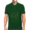 Tree Frog art green Mens Polo