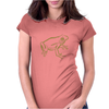 Tree Frog art green Womens Fitted T-Shirt