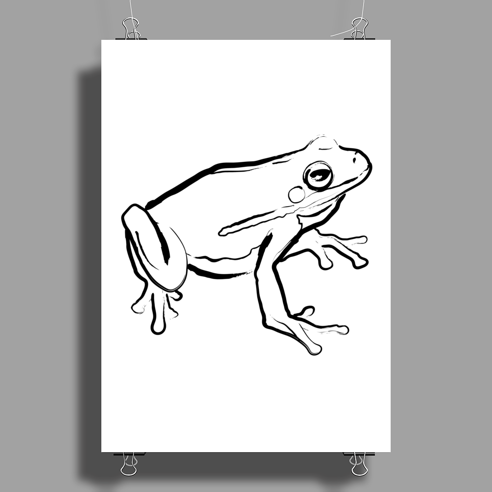 Tree frog art Poster Print (Portrait)
