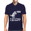 Trex If You're Happy And You Know It Mens Polo
