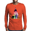 Triangle Cat Design Graph Galaxy Mens Long Sleeve T-Shirt