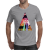 Triangle Cat Design Graph Galaxy Mens T-Shirt